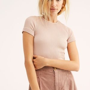 Free People Tops - Intimately Free People Ribbed T-shirt